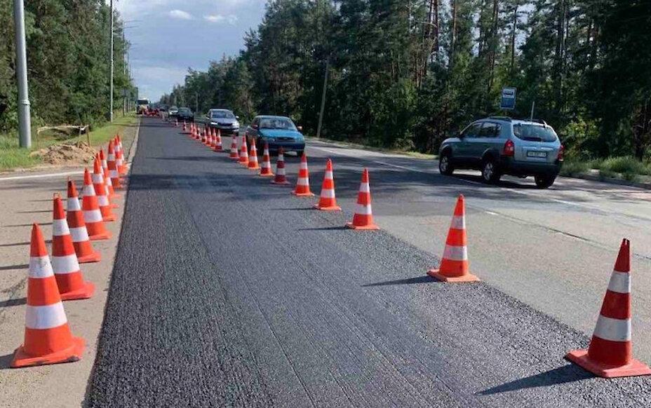 Триває ремонт дороги регіонального значення Р-01 (Київ–Обухів)