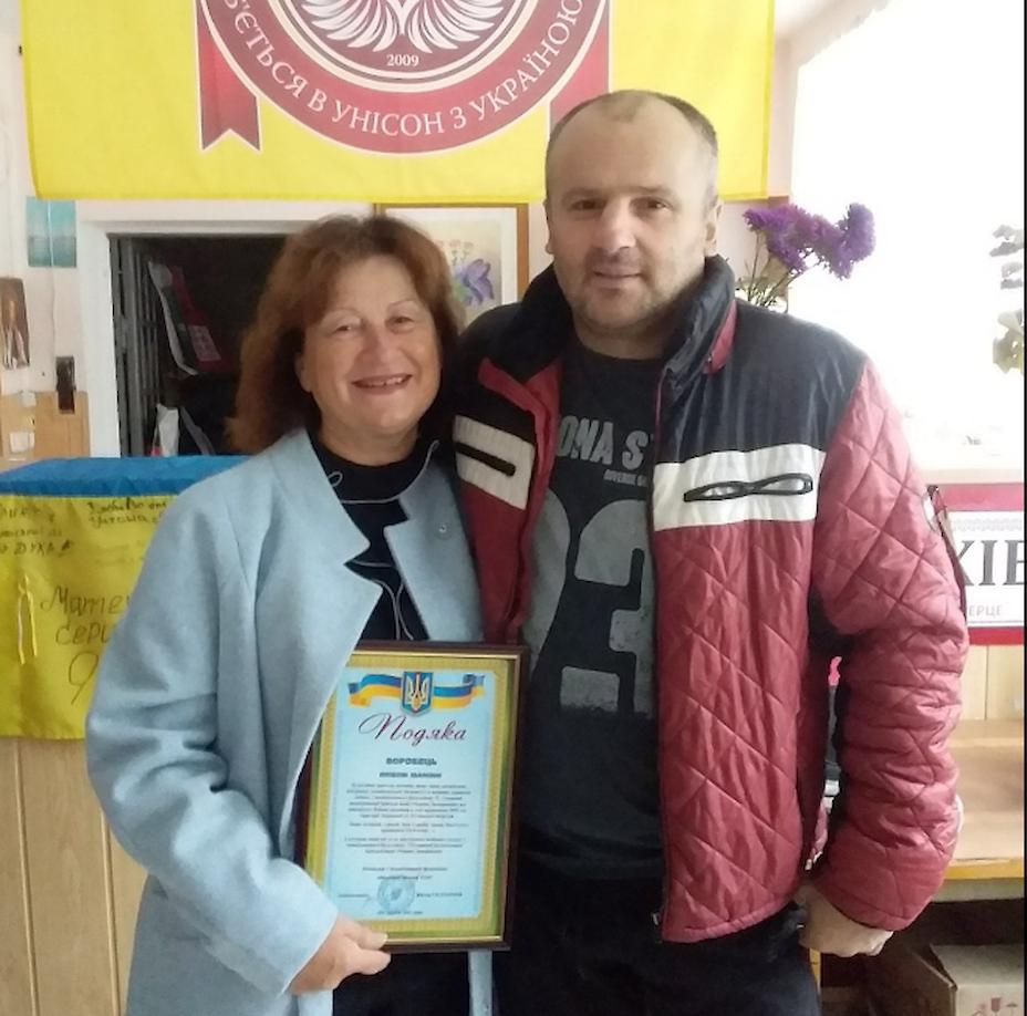 Обухівську волонтерку нагородили за допомогу армії