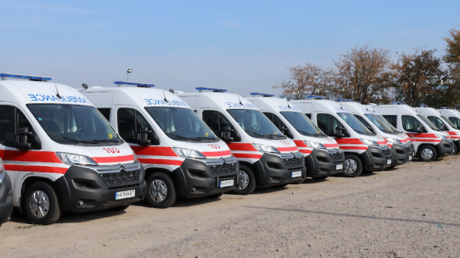 Обухівщина отримала нові автівки екстреної медичної допомоги